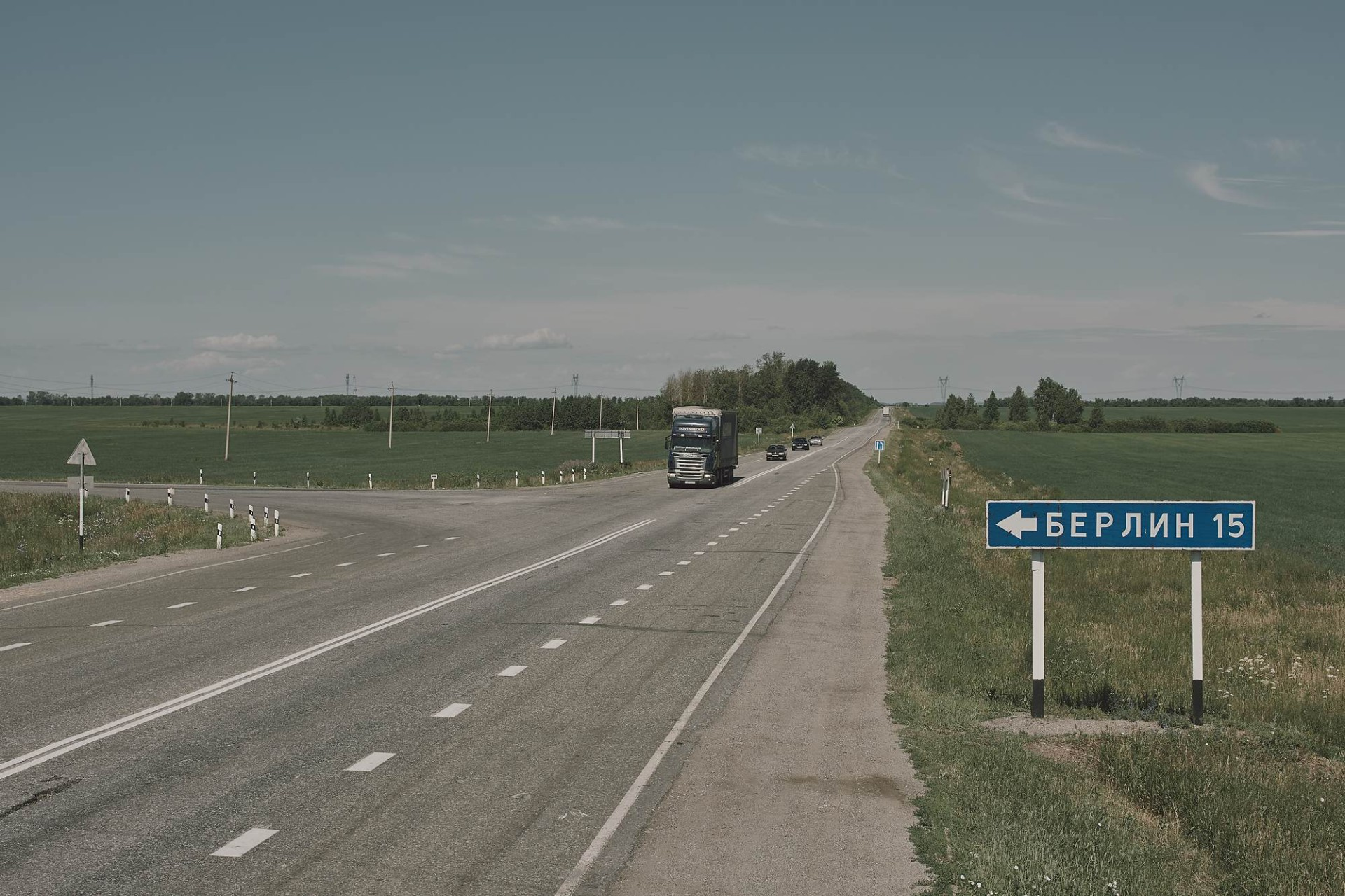 A road to Berlin village, named after Berlin, Germany,  occupied by the Russian army in 1760 and 1813.