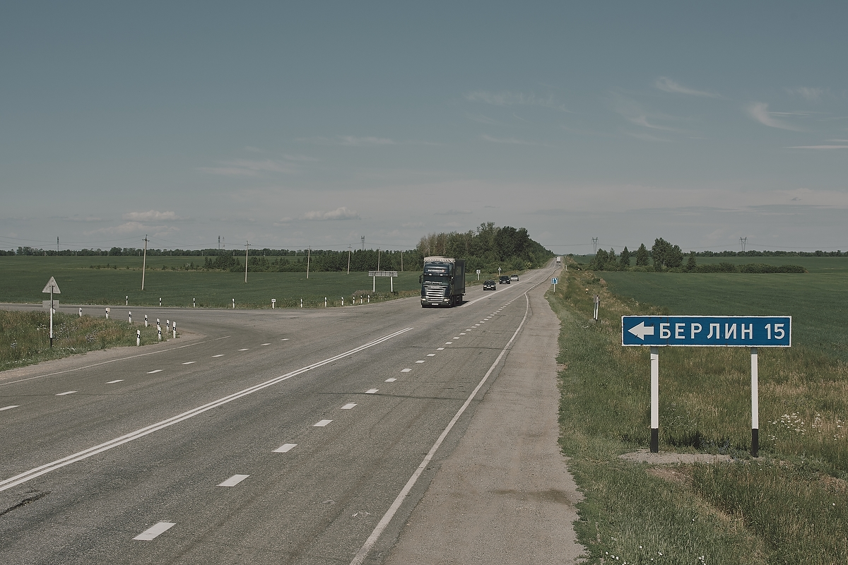 The road to Berlin, a village named after Berlin, Germany, occupied by the Russian army in 1760 and 1813.