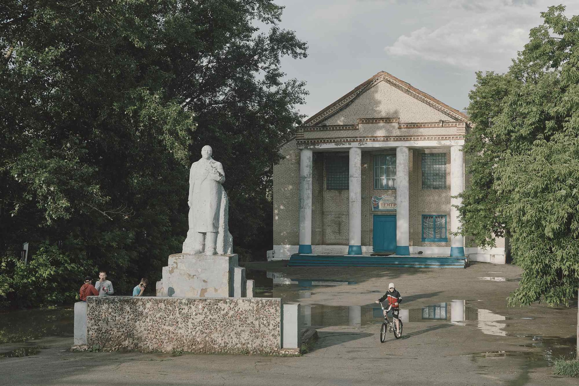 A Lenin Momument next to a library center in Izmail village, named in favor to the Siege of Izmail  (Turkey), 1790 on the Black Sea, during the Russo-Turkish war.