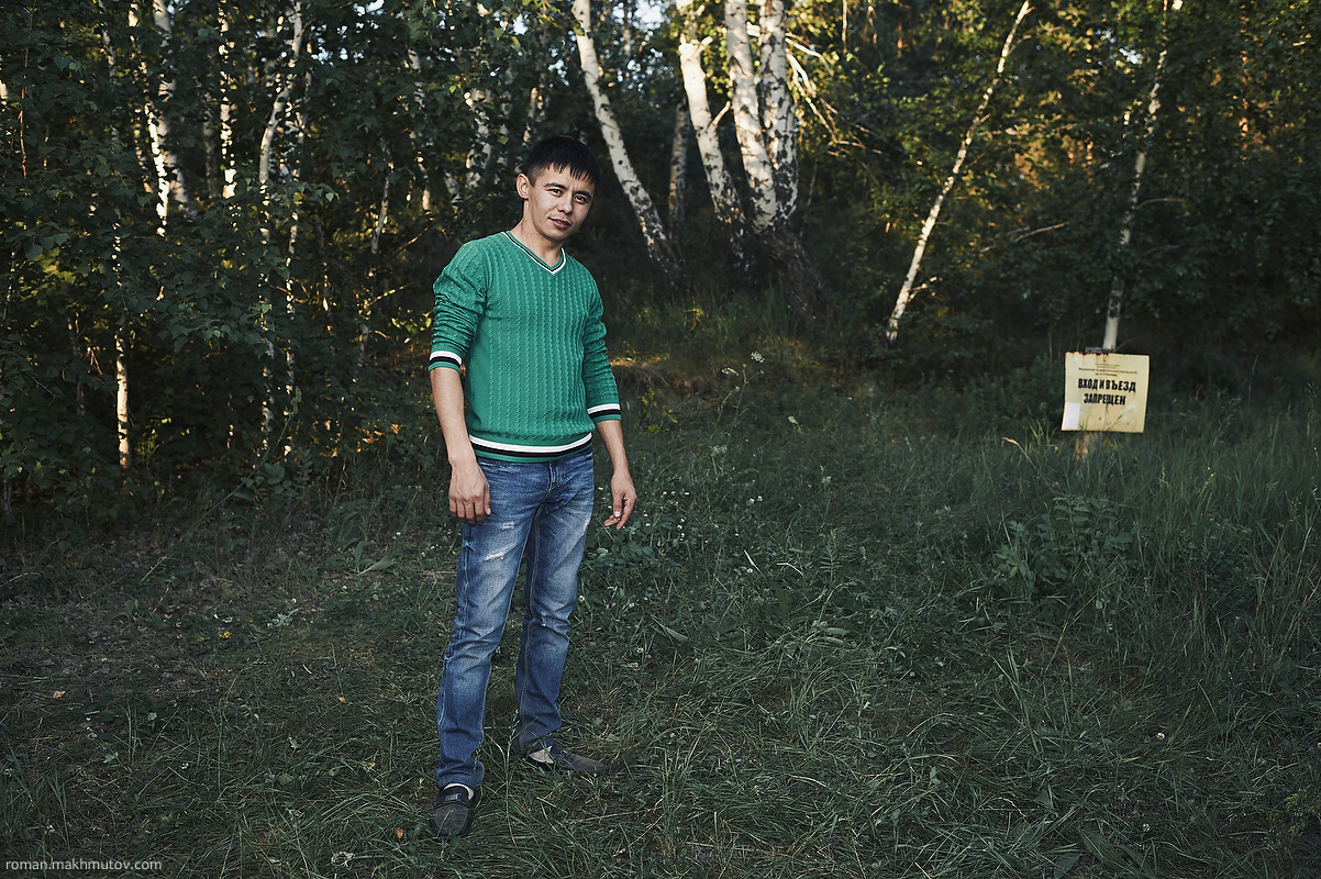 Arslan, Kyzyl. Seventh year here. I come here for self-affirmation. I gain energy, come to the Mountain of Love. Maybe due to the mountain I take my girlfriend with me. But I don't believe a mountain can change one's destiny, I believe in God.