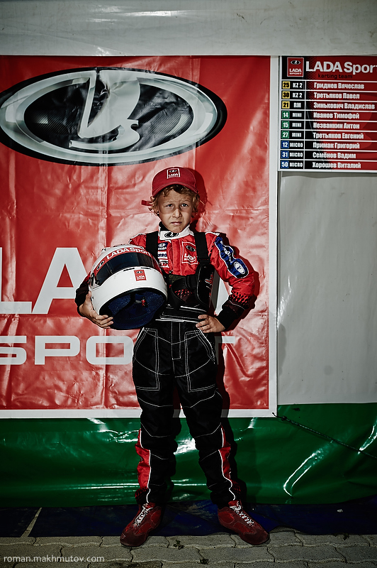 Vitalik, 9 years old. 2nd year in the racing. Tolyatti. The sponsor of his team if Lada, popular Russian car brand.